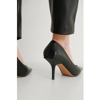 Na-kd shoes squared counter pumps - black