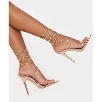 Sandales rose gold à talons avec bride...