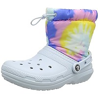 Crocs classic lined neo puff tie dye boot,...