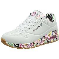 Skechers uno loving love, basket femme, blanc,...